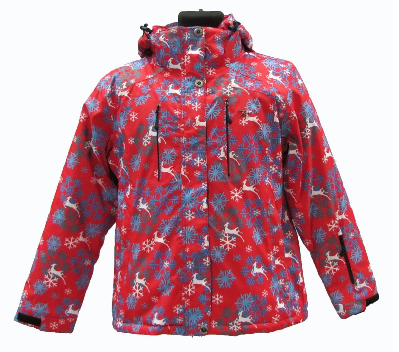 Куртка горнолыжная женская красная