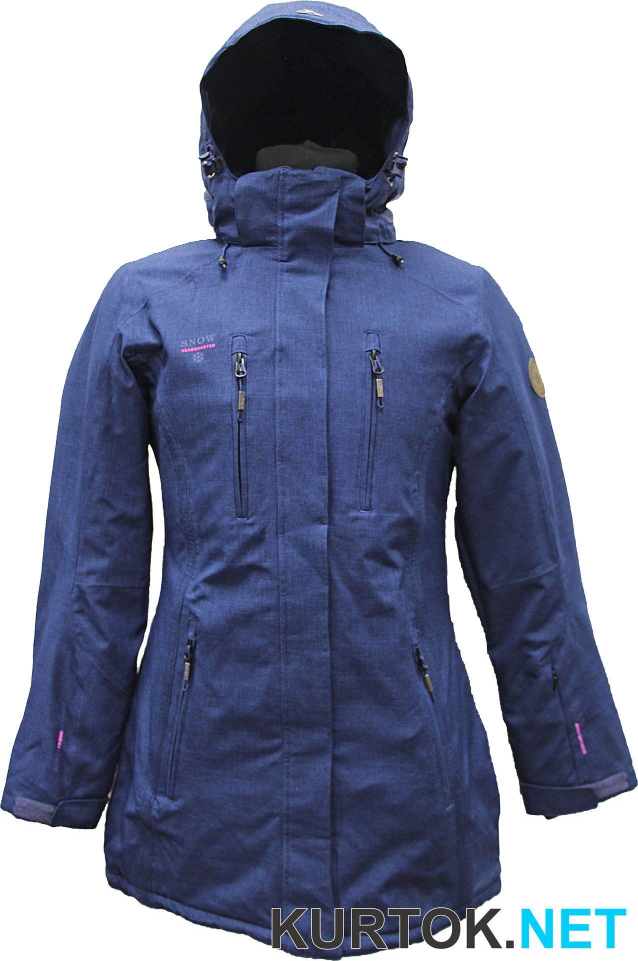 Куртка горнолыжная удлиненная женская (темно-синяя) Snow Headquarter ... 92a7721107188