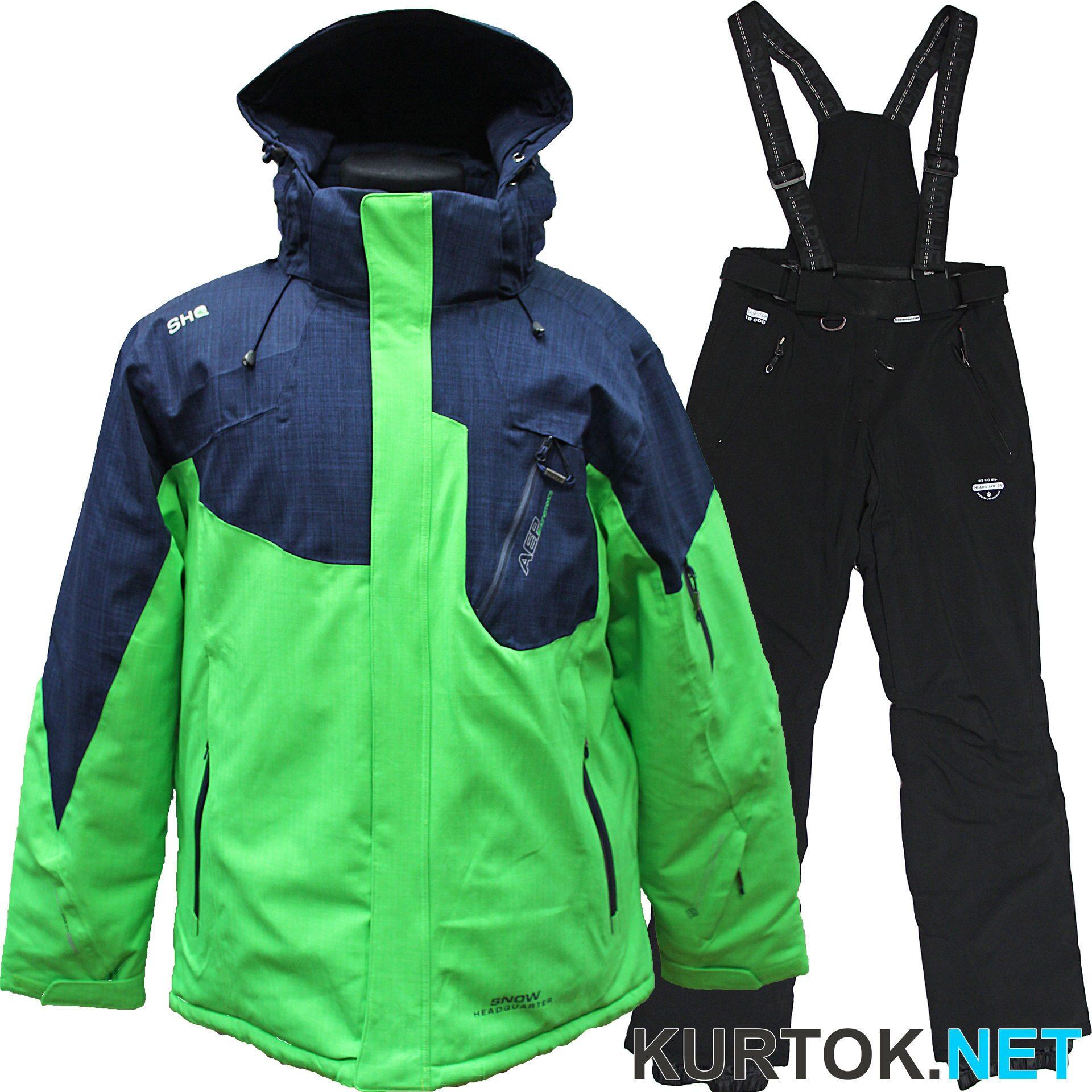 0e2f7976a1d33 Костюм горнолыжный мужской (темно-синий с зеленым) Snow Headquarter ...